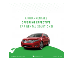 Afghanrentals Offering Effective Car Rental Solutions