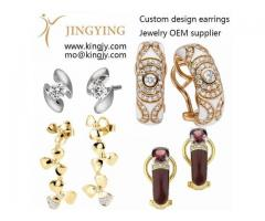 Earring is a angel wing shape, made of sterling silver plated white gold plated